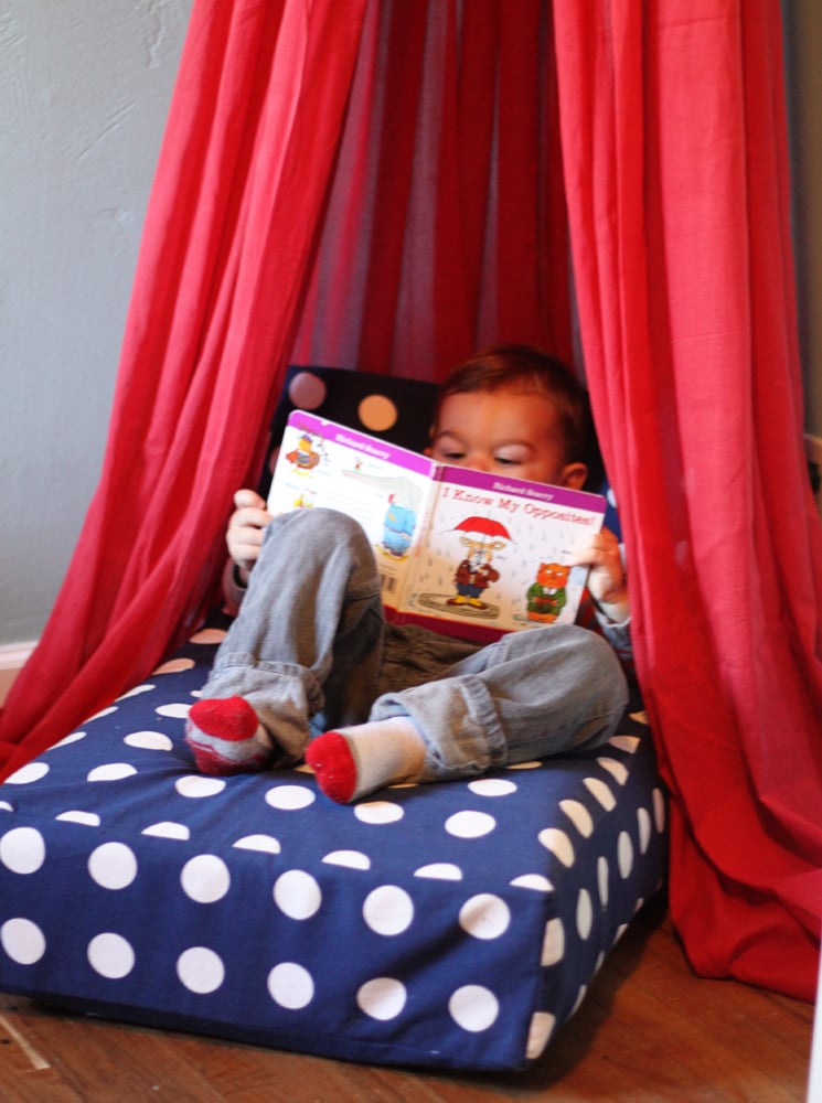 Upcycle Your Crib Mattress Into a Cozy Reading Fort