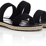 Maslin & Co Black Terry Cotton Hutton Sandals