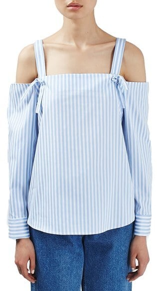 4d61e64e1ce619 Topshop Boutique Stripe Off the Shoulder Top