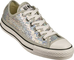 Converse Chuck Taylor All-Star Silver Sequin Sneakers