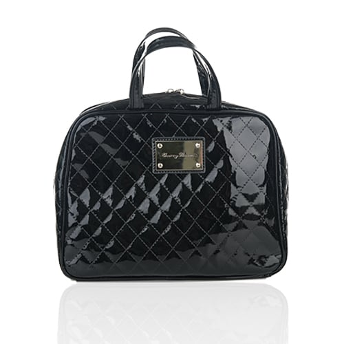 This toiletry bag is perfect for your next mother-daughter trip.  Cherry Blooms Quilted Patent Leather Toiletry Bag ($35)