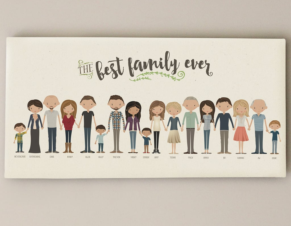For the Grandparents Who Value a Personal Touch: Custom Extended Family Portrait​