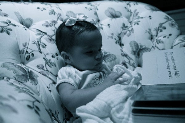 Nick Cannon shared a picture of Monroe Cannon reading the book My Mother Is Mine on Twitter in November 2011.