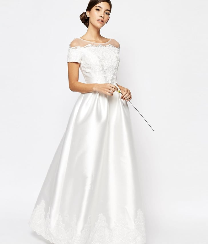 Chi Chi London Bridal Gown With Embroidered Cap Sleeves (£