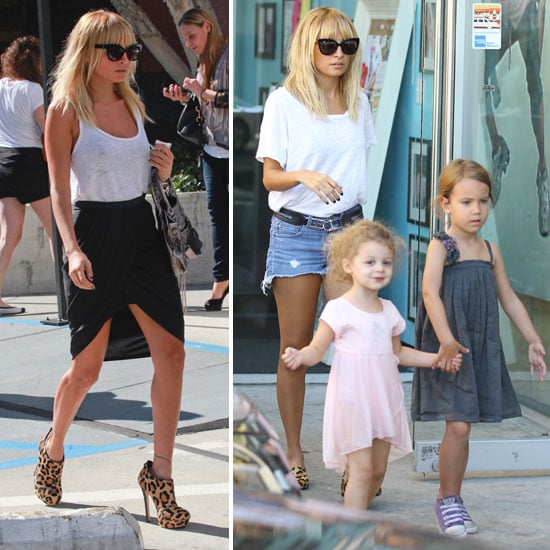 Nicole Richie Gets Fancy For a Meeting, Casual For a Treat With Harlow