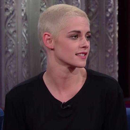 Kristen Stewart Talking About Trump Tweets on Colbert 2017