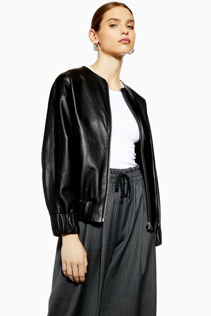 b48d2bc24 Topshop Leather Bomber Jacket by Boutique | Best Bomber Jackets 2019 ...