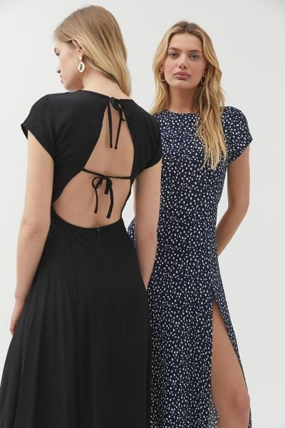 UO Lindsey Cap-Sleeve Midi Dress