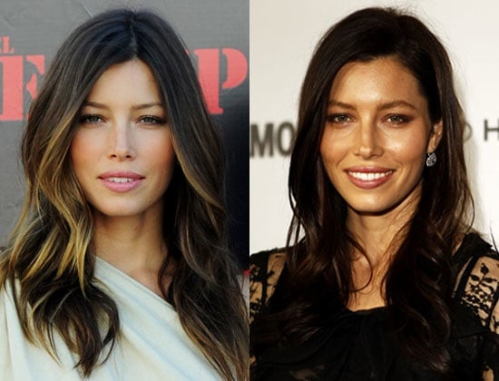 Picture of Jessica Biel With New Dark Brown Hair