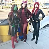 Gamora, the Scarlet Witch, and Black Widow
