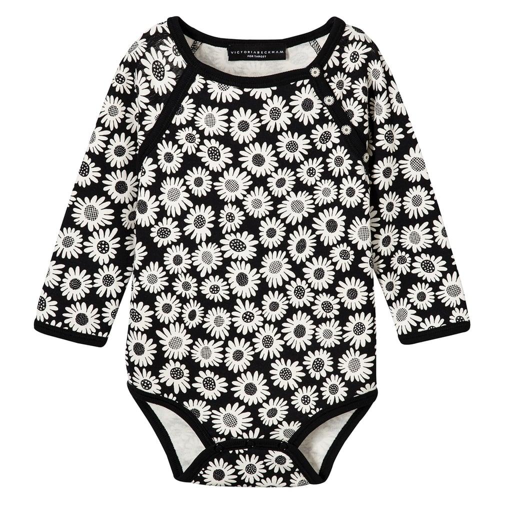 Baby Black Mini Daisy Long Sleeve Bodysuit ($13)
