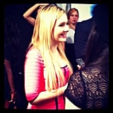 Our friends at MTV Style spotted Abigail Breslin checking out one of the shows at Fashion Week. Source: Instagram user mtvstyle