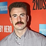 Chris Evans Went Out in Public With This Mustache on His Face