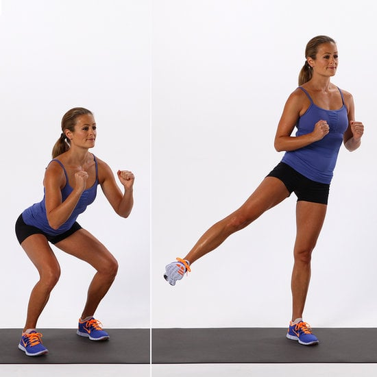 Lower Body: Basic Squat With Side Leg Lift