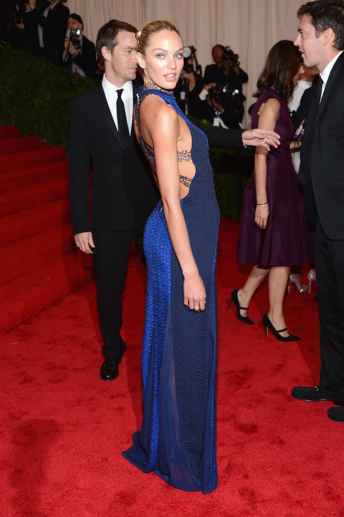 Candice Swanepoel was the picture of sexiness in a body-hugging Rag & Bone number at the Met Gala — just look at that back cutout!