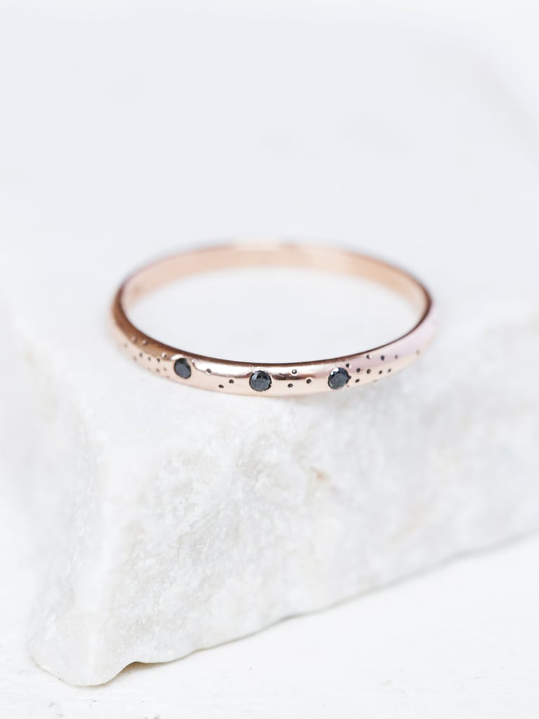 Free People Claire Kinder Womens Speckled Triple Diamond Ring ($438)