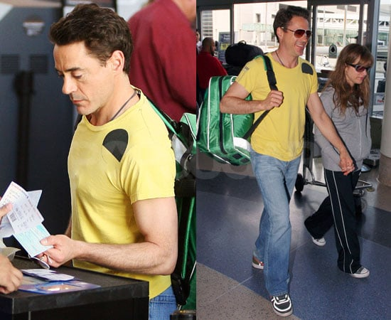 Robert Downey Jr at the Airport