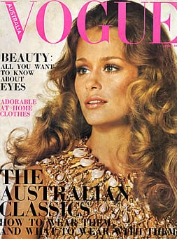 Lauren Hutton, Vogue Australia, April 1969