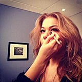 LeAnn Rimes got her hair and makeup done before appearing on The Tonight Show. Source: Twitter user leannrimes