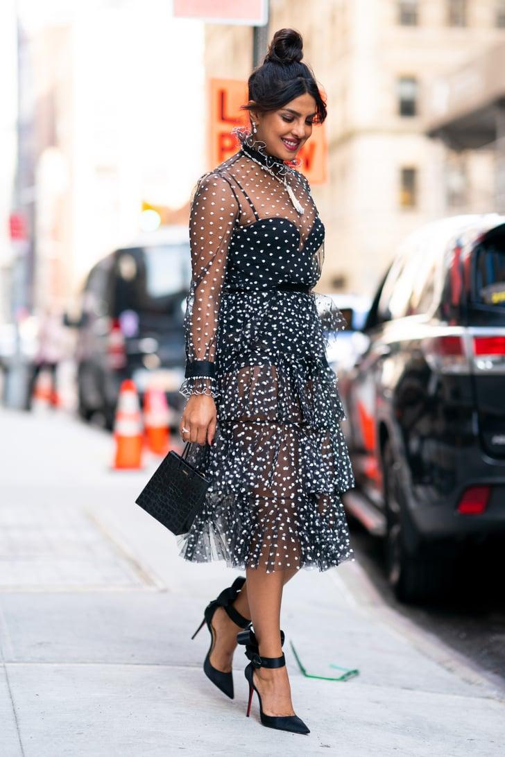 Priyanka Chopras Sheer Polka-Dot Dress  Popsugar Fashion Australia Photo 21-3470