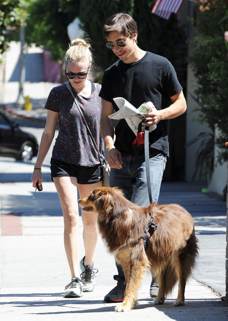 Amanda Seyfried and Justin Long brought Amanda's dog Finn to the park in LA to kick off Labor Day weekend. The new couple carried blankets and books to the park and enjoyed some sun before taking Amanda's pup to get groomed. Rumors of the two dating started swirling earlier this month, and last week, Amanda and Justin confirmed their romance when they were spotted laughing at a park in LA with friends. The actress recently wrapped up promotions for her flick Lovelace, and she opened up about sex in several interviews.