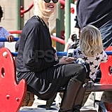 Gwen Stefani went on a seesaw with Zuma Rossdale.