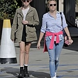 Reese sported a pair of 7 For All Mankind skinny jeans.