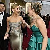 Colin Jost, Scarlett Johansson, and Florence Pugh at the 2020 Oscars