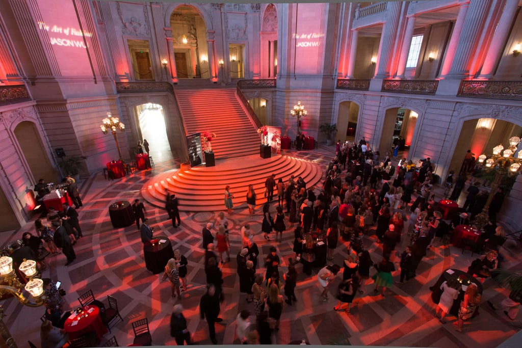 The Rotunda lit up with guests both before and after the runway show.