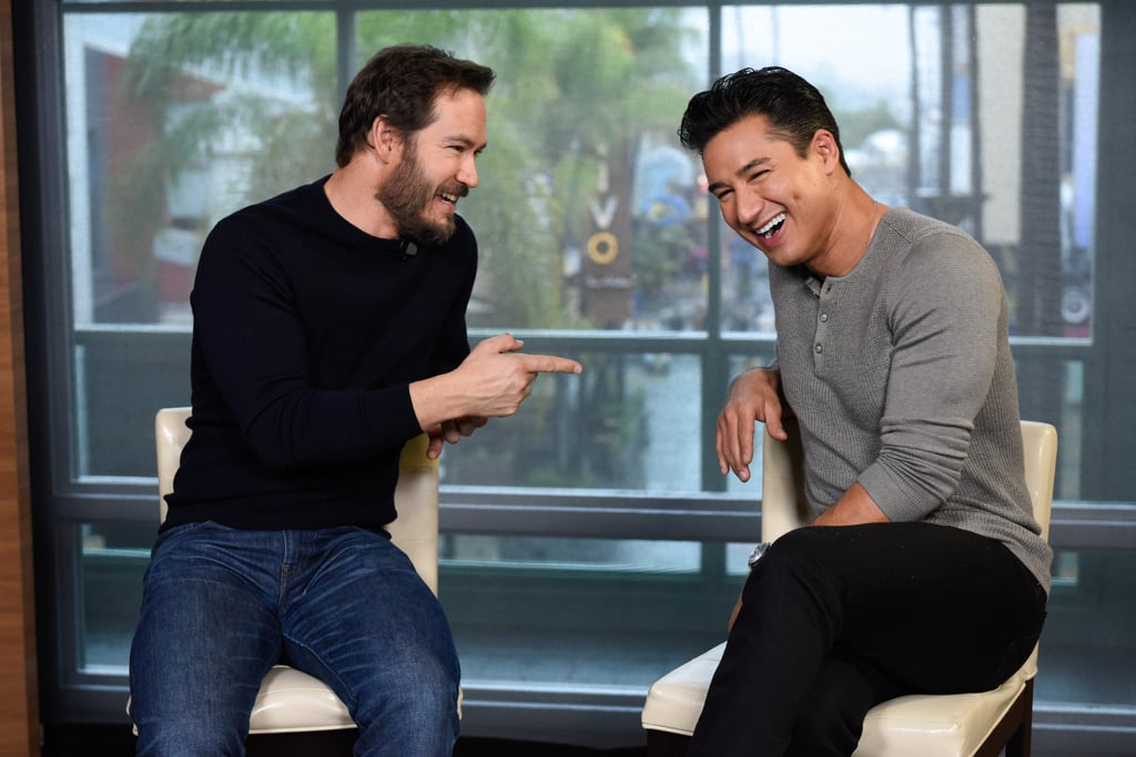 """Time out! Mark-Paul Gosselaar and Mario Lopez had a Saved by the Bell reunion on Wednesday when Gosselaar stopped by Extra to talk about his new TV show, The Passage. After Gosselaar teased Lopez for always calling him rather than texting him, the former costars caught up on each other's lives, talking about what their kids are up to these days as Lopez looks forward to expanding his family. Oh, and the important question: yes, of course they talked about their Bayside days! When Lopez asked Gosselaar what people ask him most often, Gosselaar said, """"Where's Slater?"""" He added that while his wife didn't watch the show growing up, his kids do watch it, joking that they're """"not impressed."""" Later, the two snapped a selfie and re-created one of their Saved by the Bell poses 30 years later. Yes, 30! Check out the pair's full conversation in the clip above, then test your Saved by the Bell knowledge and relive The Tonight Show's epic Bayside reunion from a few years ago."""