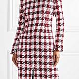 Oscar de la Renta Fringed Cotton-Blend Tweed Coat