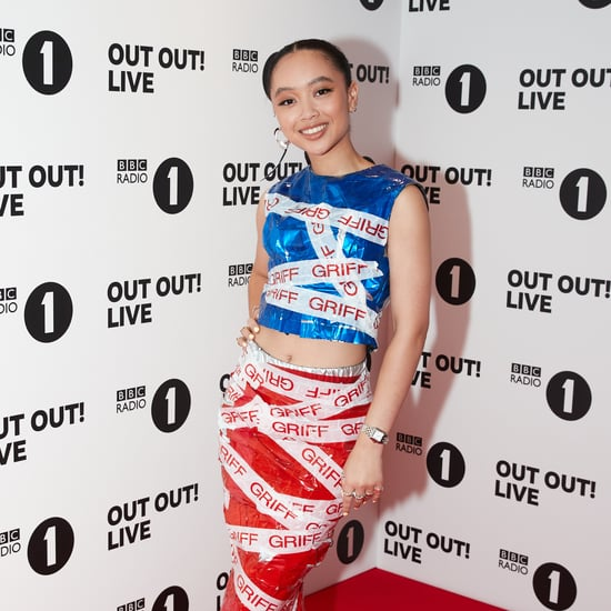 Griff Wears Alexandra Moura Outfit to Radio 1 Out Out Live