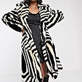 Ivyrevel Faux Fur Coat in Zebra Print