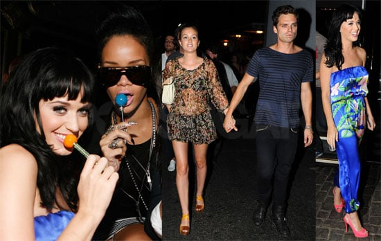 Photos of Donald Trump, Rihanna, Leighton Meester, Mickey Rourke, Sebastian Stan at Katy Perry Concert/Afterparty