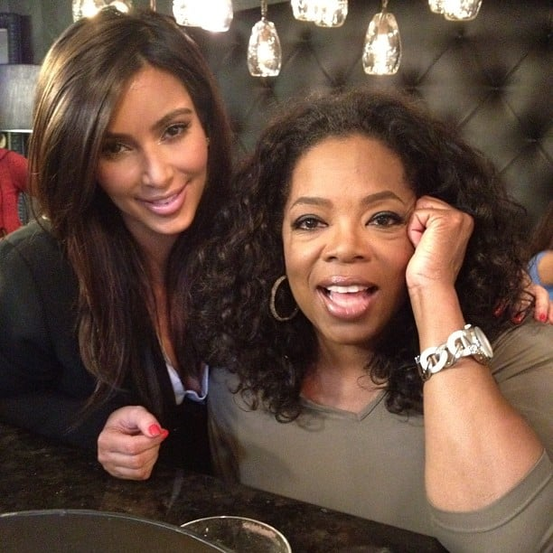 Oprah Winfrey stopped by the Kardashian household to chat with Kim and her siblings.  Source: Instagram user kimkardashian