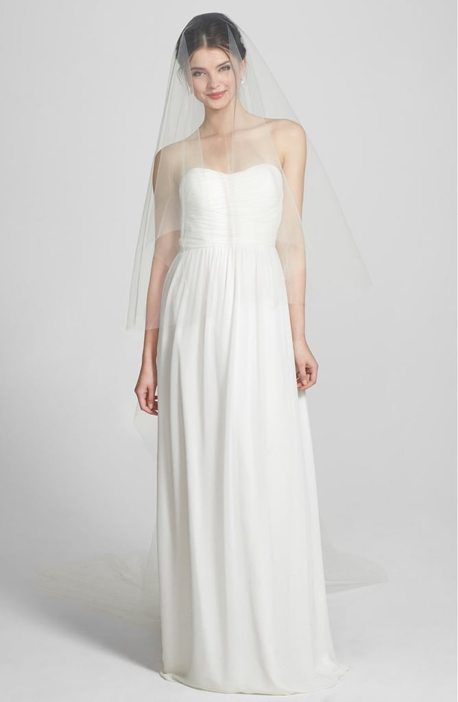 Say yes to Wedding Belles's two-tier cathedral veil ($218).