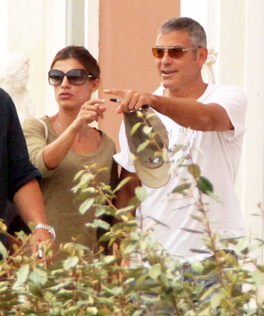 Pictures of George Clooney and Elisabetta Canalis