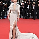 At the Cannes Film Festival in 2015, Cheryl opted for a very dramatic caped couture gown by Ralph & Russo.