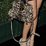 A leopard-print Mulberry bag completed Ashley's look.