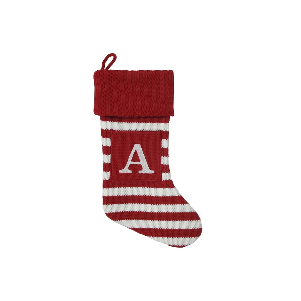 Knit Monogram Stocking | Best Personalized Christmas Stockings ...