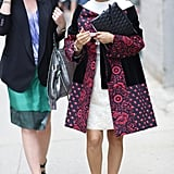 Brilliant print and color only furthered the intrigue on both of these ladylike looks. Source: Greg Kessler