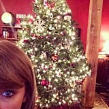 Taylor showed off her Christmas decorations a couple days before the festive bash.