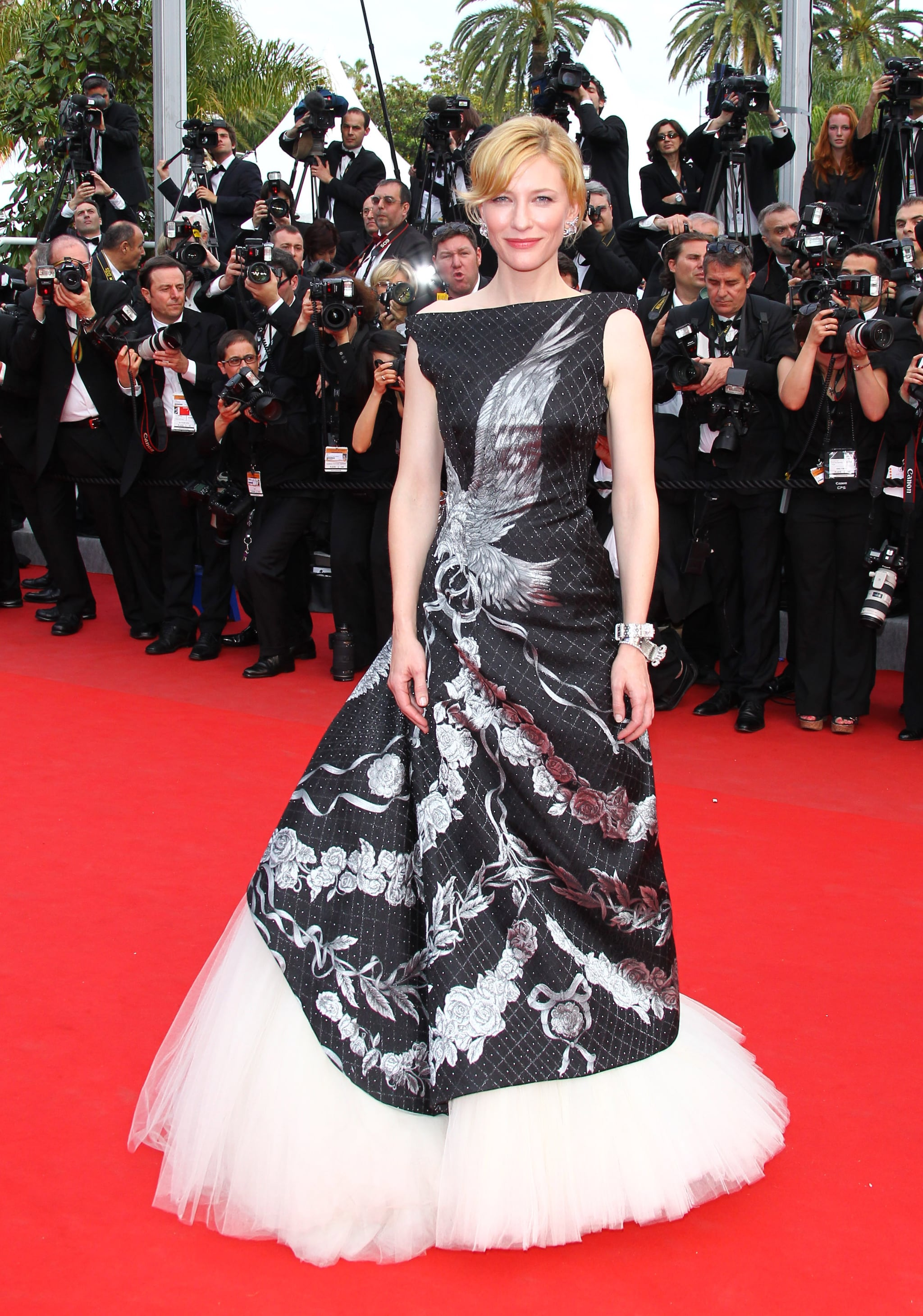 Cate Blanchett wore an Alexander McQueen gown at the Cannes premiere of Robin Hood in 2010.