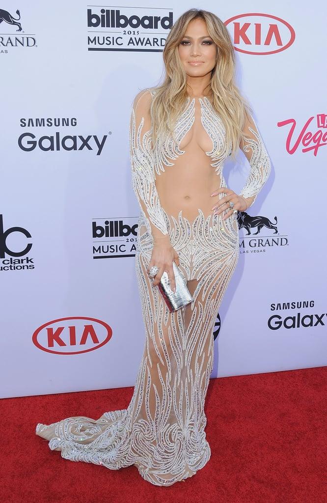 Jennifer Lopez Wearing Charbel Zoe to the 2015 Billboard Music Awards