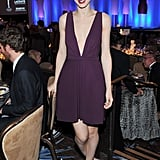 Rooney Mara wore dark purple to the Costume Designers Guild Awards.