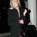 Emma Bunton arrived for David Beckham's H&M party.