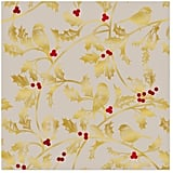 Holly and Birds Christmas Wrapping Paper Roll