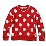 Disney x Vans Minnie Mouse Boxy Crew Sweatshirt in Racing Red