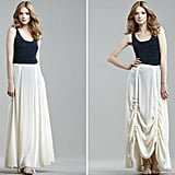 This versatile ivory maxi can be worn as a traditional flare skirt, or adjust the parachute strips for bunched draping.  Rag & Bone Parachute Maxi Skirt ($495)