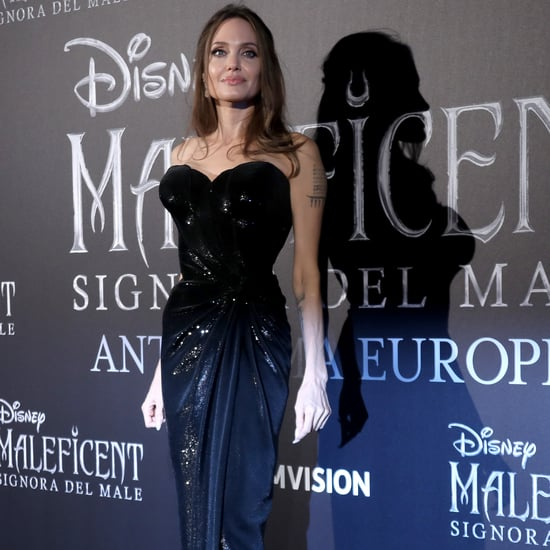 Angelina Jolie's Sexy Black Strapless Gown Is Just Her Style